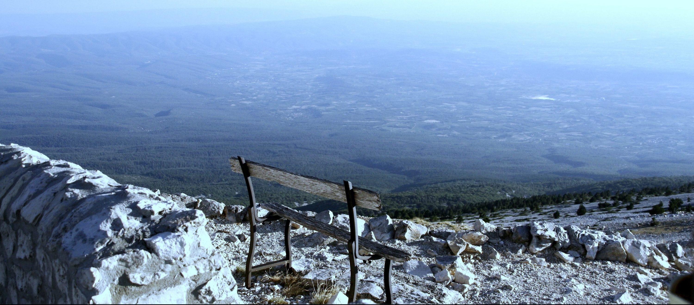 Vue banc Mont Ventoux proche maison d'hôtes au coin des figuiers en Provence