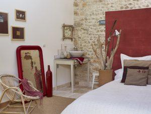 Vue salle d'eau chambre 3 Au coin des figuiers chambre d'hôtes en Provence